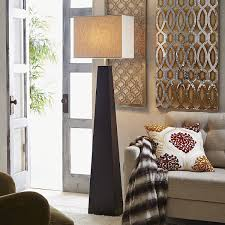 interior living room decor idea with wall artwork and tufted
