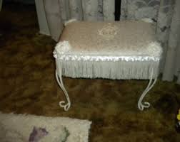 Shabby Chic Footstool by Boudoir Bench Etsy