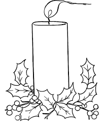 christmas candle blowing wind coloring pages download