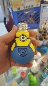 minion light bulb christmas ornaments laboratorio pinterest