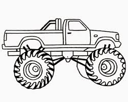monster truck for kids coloring page free download