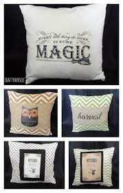 halloween print and transfer pillows craft