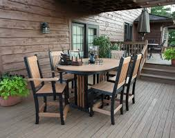 poly lumber 7 piece garden mission dining set