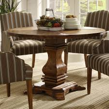 Teak Wood Dining Table Create A Warm Ambience With Soothing Rustic Round Dining Table