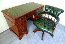 Office Desk Leather Top Antique Writing Desk Leather Top 3 Walnut 5 Drawer Writing Table