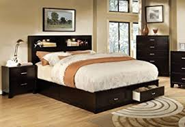 amazon com furniture of america broadway platform bed with