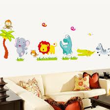 Jungle Wallpaper Kids Room by Aliexpress Com Buy Cartoon Jungle Wild Animals Diy 3d Vintage