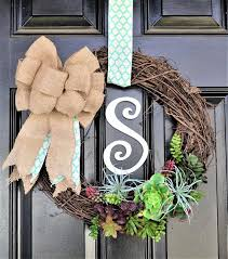 spring door wreaths succulent wreath how to make a spring door wreath