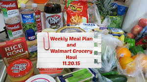 thanksgiving at walmart weekly meal plan walmart grocery haul happy thanksgiving