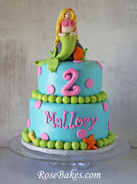 mermaid birthday cake bright mermaid birthday cake