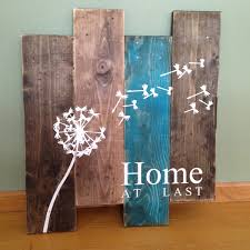 dandelion wall hanging home at last rustic wall decor teal