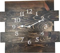 loon peak oversized almont reclaimed style wood wall clock