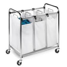 honey can do folding table laundry sorter 3 capacity heavy duty large capacity folding table