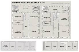 the floor plans to the hermann grima house in the french quarter