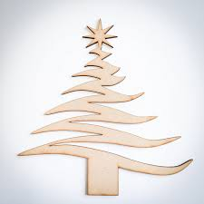 wooden tree shape craft blank tree cut out