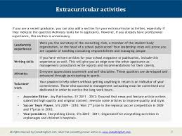 Interest Activities Resume Examples by Mckinsey Resume Sample