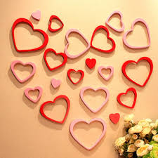 Wood Wall Stickers by Buy Removable Heart Shaped 3d Wooden Wall Stickers Backdrop
