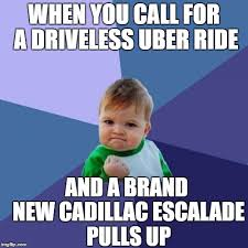 New Driver Meme - driver less uber ride imgflip