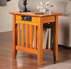 side table with power outlet chair side table chair side table plans www ryunyc com