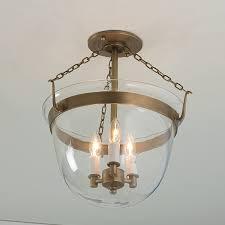 smokebell semi flush ceiling lantern shades light