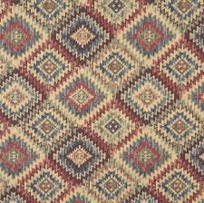 wool upholstery fabric yellow and brown and beige coral abstract navajo southwestern