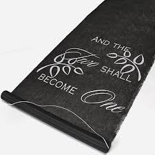 Aisle Runner Two Become One 100 Ft Black Aisle Runner