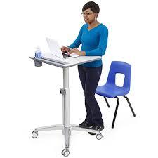 Standing Desk For Laptop by Ergotron Learnfit Sit Stand Desk Short Computer Carts Laptop