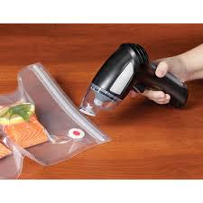 Best Vaccum Sealer The Best Handheld Vacuum Sealer Hammacher Schlemmer