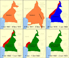 map of cameroon cameroon boundary changes map mappery