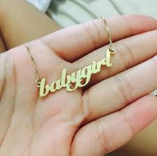 baby name necklace gold best 25 name necklace ideas on personalized necklace