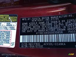 toyota camry color code 2005 camry color code 3q3 for salsa pearl photo 77926212