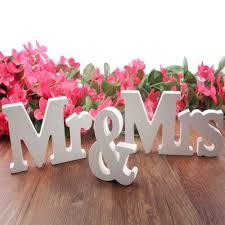 2017 solid mr u0026 mrs wooden letters for wedding decoration sign top
