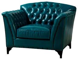 Traditional Armchairs Nice Teal Leather Chair With Blue High Back Leather Wing Chair