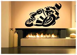 motorcycle home decor sport decals for walls mural wall mural stickers awful wall decor