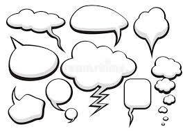 bubble talk collection sketch drawing stock vector image 67804144