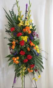 floral spray order bright beautiful funeral spray of flowers in houston tx from
