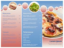 free word menu templates restaurant menu template sle format