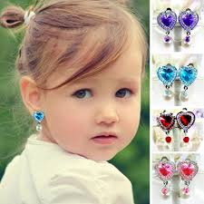 clip on earrings for kids 1 pair ear clip style earring soft cushion invisible ear hanging