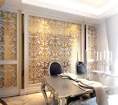 damask home decor customized golden white glass mosaic wallpaper tile home decor