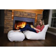 bean bag chair with ottoman zen bean bag chair and ottoman set free shipping today overstock