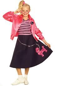 1950 Halloween Costume Teen Girls 1950 U0027s Costume Poodle Skirt Girls Fancy Dress Costume
