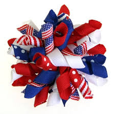 fourth of july hair bows american firecracker korker hair bow or headband 4th of
