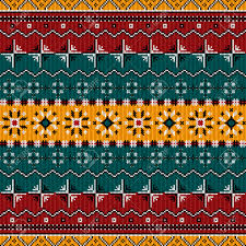 balkan style ethno country carpet seamless pattern design royalty