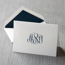thank you card custom monogram thank you note cards thank you