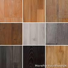 NEW Wood Plank Vinyl Flooring Roll Quality Lino AntiSlip Kitchen - Cheap bathroom vinyl flooring 2