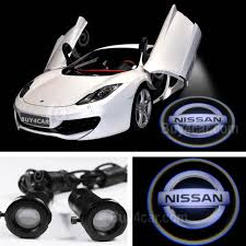 nissan logos car logo led ghost shadow welcome light laser for nissan white