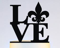 fleur de lis cake topper birthday anniversary and wedding cake toppers by wyaledesigns