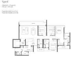 bedroom floor plan principal garden floor plan brochure unit mix singapore