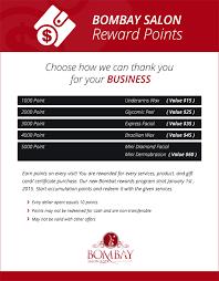 reward u0026 coupons bombay salon and spa memphis tn