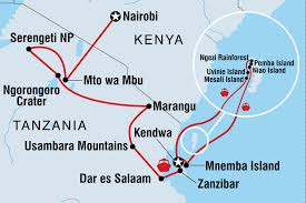 Kenya Blank Map by Kenya Tours U0026 Travel Intrepid Travel Ca